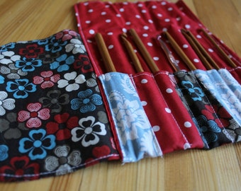 crochet hook case, crochet hook organizer, roll up needle case, crochet storage, crochet case, crochet hook