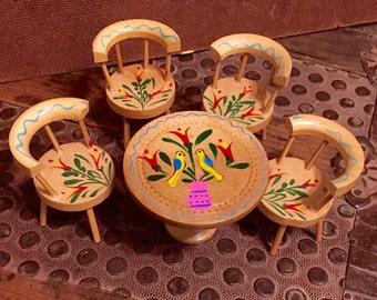 Fomerz Japan Dollhouse Table & Chairs Set-Original Box