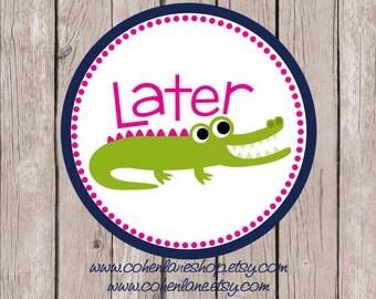 Instant Download Printable Lator Gator Tshirt Iron on Transfer Design. Gator Iron On Transfer. Birthday Iron on. Crocodile. Alligator.
