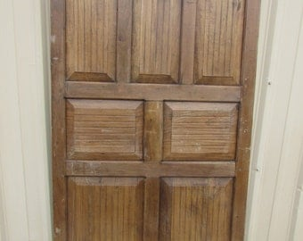 Antique Single Hard Wood Mexican Old Door-Primitive-Rustic-40x71x1.5-Gorgeous--Weathered Patina-Architectural Element-Parota