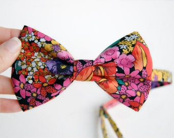 Floral Bow Tie Pre Tie Bow Adjustable Bow Tie Floral Bow Gift For Him