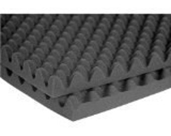 """2.5"""" Acoustic Foam Egg Crate - 2-1/2"""" x 72"""" x 80"""" covers 40sq Ft - SoundProofing/Blocking/Absorbing Acoustical Eggcrate Foam"""