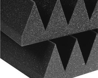 "Acoustic Foam (12 Pack Kit) - Wedge 4"" 12"" x 12"" covers 12sq Ft - Sound Proofing/Blocking/Absorbing Acoustical Foam - Made in the USA!"