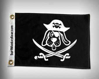 FLOPPY EAR Dog Pirate Flag - Marine Flag - Boat Flag