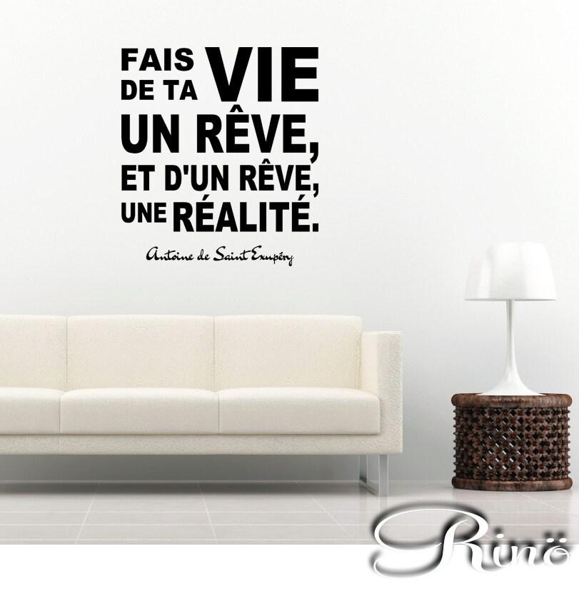 Antoine De Saint Exup Ry Citation Fais De Ta Vie Un R Ve