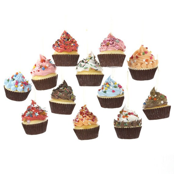 Cupcake With Frosting Foam Ornaments 2-3/4-Inch By PartySpin