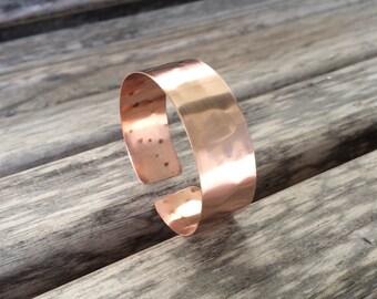 Hammered Copper Cuff Bracelet for Petite to Large Wrist Sizes | Customized Copper Bracelet | Boho Copper Cuff Bracelet | Polizhed Copper