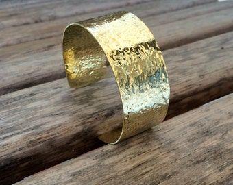 Hammered Brass Cuff Bracelet | Customized Brass Cuff | Hammered Brass Bracelet | Polished Brass Bracelet | Choose Your Size