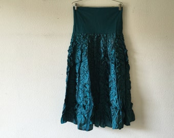 Vintage Long Maxi Skirt/ Made in India