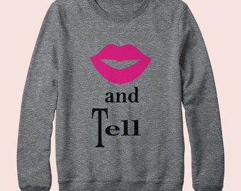 Kiss and Tell - Sweater, American Apparel, Crew Neck, Graphic