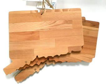 Connecticut Cutting Board, Personalized Wood Gift, Serving Board