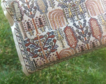 Tiny precious decorated PURSE // Gold and white Boho arabesque clutch // Multi-usages little pouche