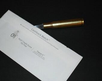 trench art style 50 caliber BMG Machine Gun Bullet letter opener