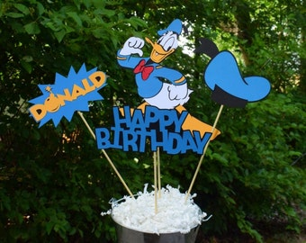 Donald Duck Birthday Table Centerpiece, Mickey Mouse Birthday Decorations, Party Decorations, Mickey Mouse Clubhouse