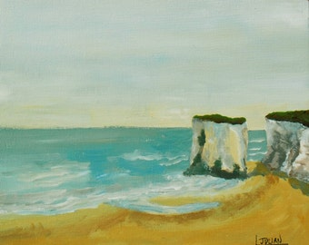 Botany Bay near Broadstairs Kent. A lovely place to paint! Original painting!