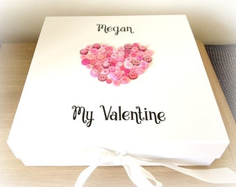 Personalised Valentines Day Keepsake Memory Gift Box