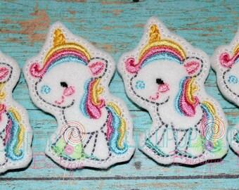 Unicorn Felties ~ Felties - Felt Appliques ~ Felt Embellishments ~ Unicorn Felt Embellishments ~ Unicorn ~ Set of 4