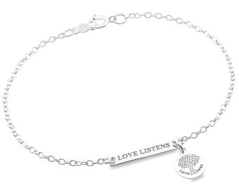 LOVE LISTENS Sterling Silver Bracelet