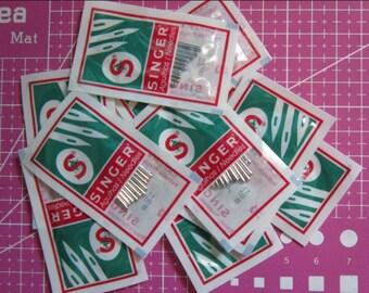 50pcs Singer Sewing Machine 2020 Needles,10Needles each size #9, 11, 14, 16,18