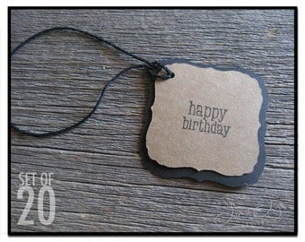 Happy Birthday Gift Tag - set of 20