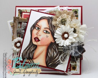 Blooming girl Lacie card