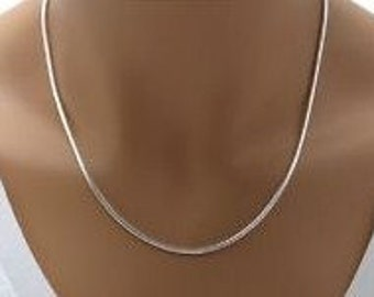 "Delicate Sterling Silver Necklace - Stunning 1MM 925 Sterling!   Available in 18"", 20"", 22"", 24"" or 28"" lengths.  ON SALE Now!"