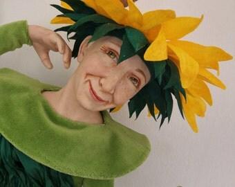 """Artist Doll """"Sunflower"""" by Elena Fesler, sculpt orig."""