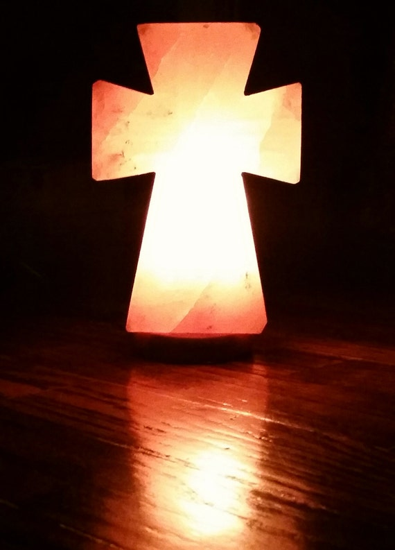 Extremely Pure Himalayan Salt Cross Lamp
