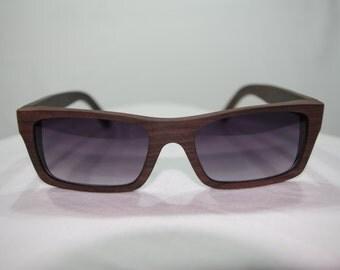 Wooden Sunglasses, Bamboo / Ebony Sunglasses, Wood Shades Gift, Huzzy's Handmade