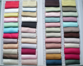 Silk-satin samples for color confirmation