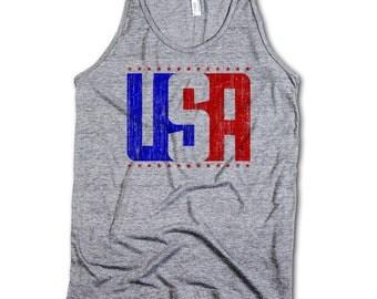 USA Vintage Men's Tank Top S-XL USA usa rb