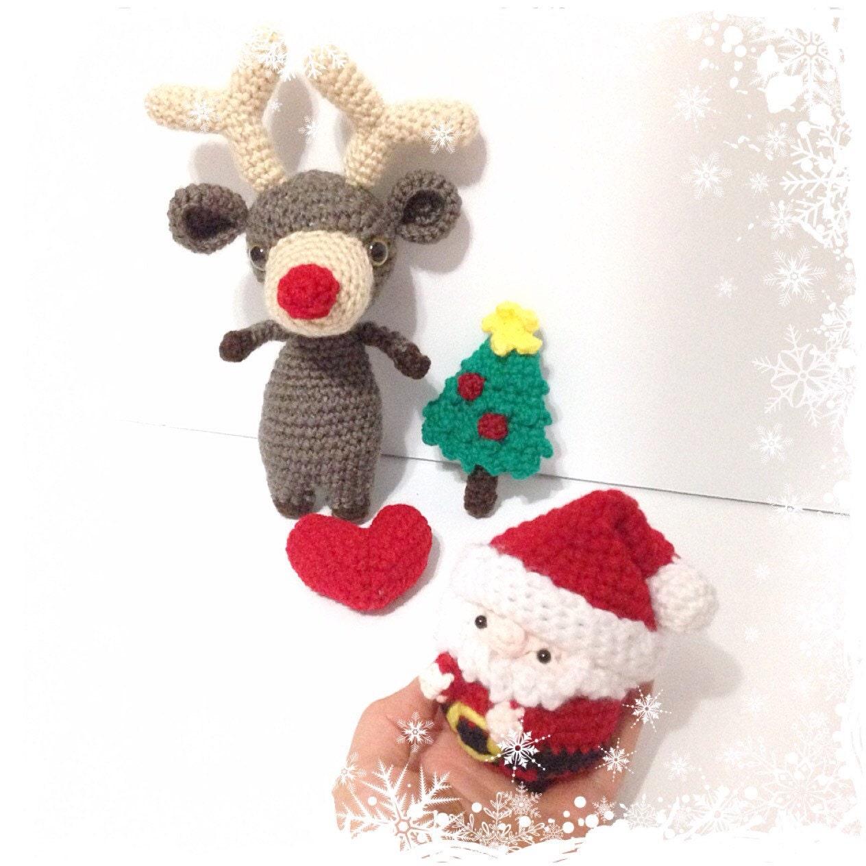 Christmas Reindeer Amigurumi : Amigurumi Reindeer Amigurumi Santa Crochet Reindeer Crochet