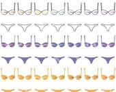 JULY SALE Bras and Panties Clipart Clip Art, Vector Clipart, Digital Scrapbooking, Graphic Artwork, PNG & Jpeg, Digital Download, Commercial