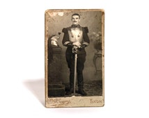 French Military Officer Photography - 1860 French Cavalry Officer Photography - France Second Empire - Old Photo Portrait Collectible