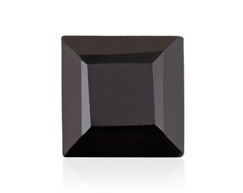 Thai Black Spinel Square Cut Loose Gemstone 1A Quality 8mm TGW 2.50 cts.