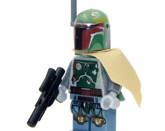 Star Wars© Boba Fett™ Bounty Hunter ID Holder Customized with Brick® Minifigure ~ Badge Reel ~ Belt Clip ~ Alligator Clip~ Keychain Nurses