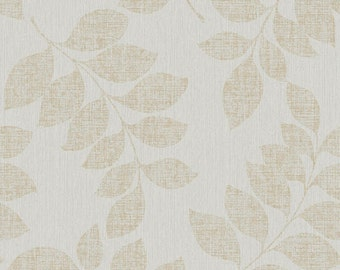 Modern Classic Satin Luxury Leaf Branches Silver Wallpaper R3772