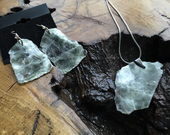 Mica Earrings and Necklace Set
