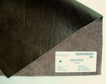 Olive leather 12x17