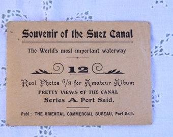 Vintage Black&White Photograph Set of the Suez Canal, Souvenir of the Suez Canal pictures/photographs, Oriental Commercial Bureau photos