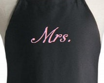 Personalized apron. Wedding gift aprons, Bride apron gift,  Mrs. Apron,  Baker's wedding gift!  Great for Restaurants or home use