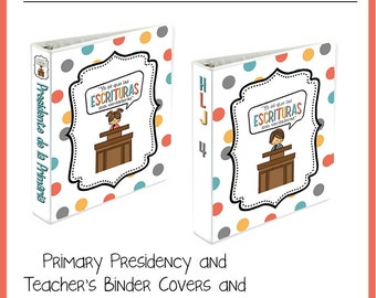 "LDS Primary 2016 Theme in SPANISH ""Yo sé que las Escrituras son verdaderas"" Binder Covers"