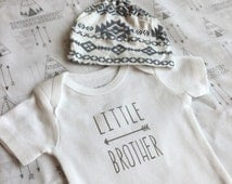 Little Brother Onesie- 2 designs- Arrow and Mustache
