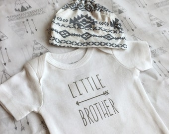 Little Brother bodysuit - 2 designs- Arrow and Mustache