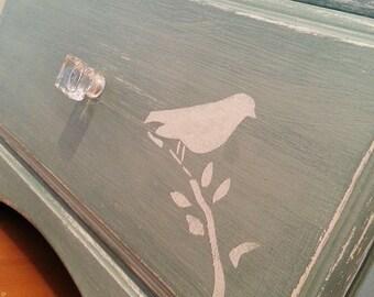 BIRDS ON BRANCHES Stencil - Furniture Craft Stencil - BI001