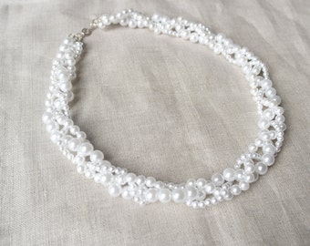 Pearl Braided Necklace