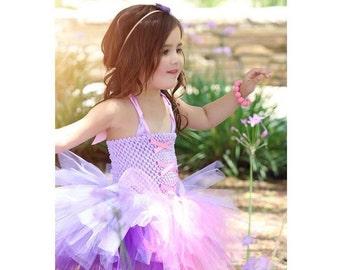 Rapunzel Tutu Dress- Princess Rapunzel/ Tangled Tutu Dress/ Costume in Pinks and Purples- Short Tutu Dress Style, Rapunzel Costume