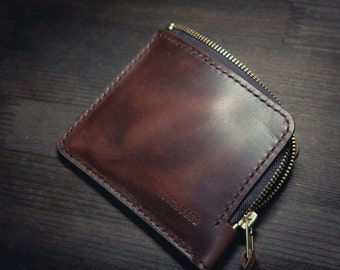 MADE TO ORDER - Horween Chromexcel Leather Mini Zip Wallet