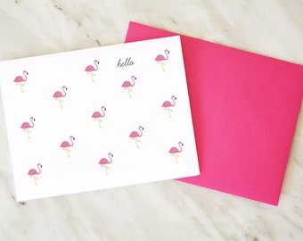 Flamingo Card / Hello Card / Just Saying Hi Card / Thinking About You Card