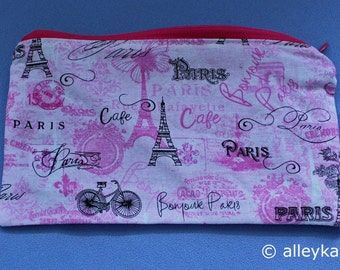Bonjour Paris Zippered Pouch